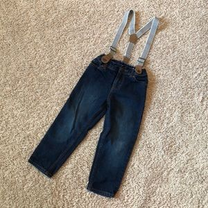 Carter's boys jeans with removable suspenders